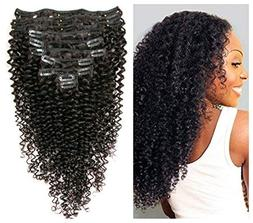 Kinky Curly Clip in Hair Extensions 10Pcs/Set with 21 clips