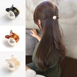 Korean Sweet Mini Round Pearl Hairpins For Women Girls <font