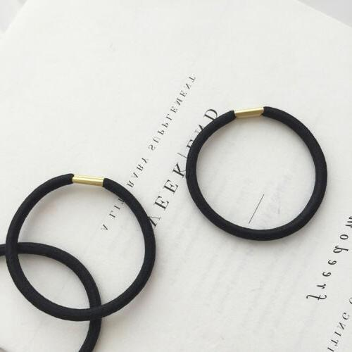 1 Women Bands Black Rubber Clips Ropes