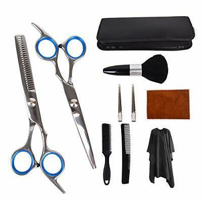 10 pcs hair cutting scissors set hairbrush