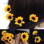 10 Pcs Yellow Sunflower Hair Pins Hair Clips Wedding Bridal