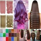 100% Natural Clip in Hair Extensions 5Clips on Half Full Hea