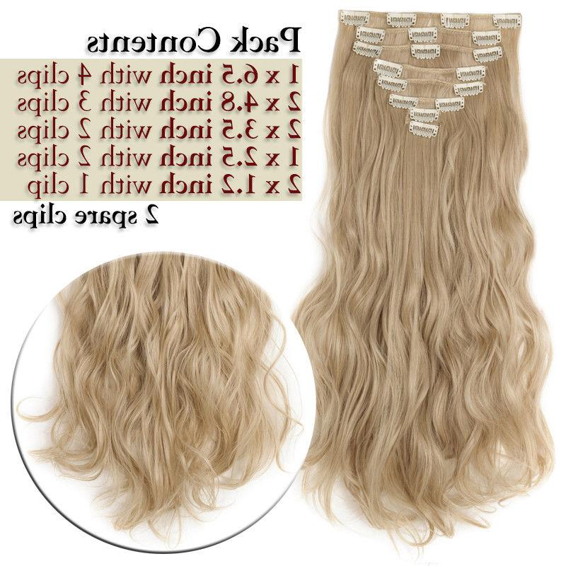 100% Natural New Hair Clip in Hair Extensions Long