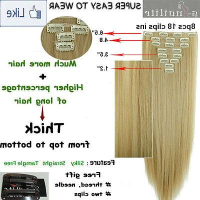 Double Weft Clip in Extensions real remy human