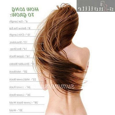 Double Weft Head Clip Hair Extensions real for human hair