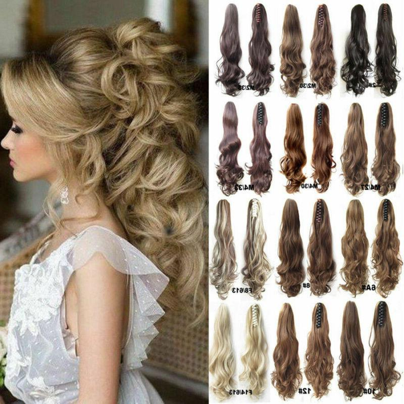 """100% Real Thick Claw Clip On Ponytail 18-26"""" Long Soft As Hu"""