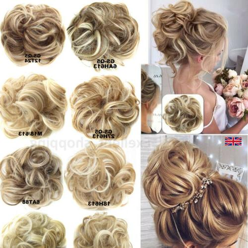 100% Wrap Messy Curly Hair Scrunchie Clip in Ponytail Extensions