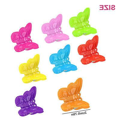 100Pcs Mini Butterfly Hair Clips Assorted Color Women