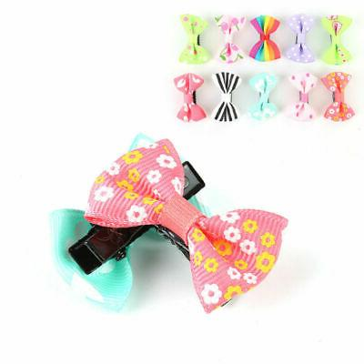 10pcs/set Mixed Bow Clip Duckbill Baby Children