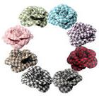 10X 6.5cm Fabric Rose Flower Heads for Hair Clip Dancer Pin