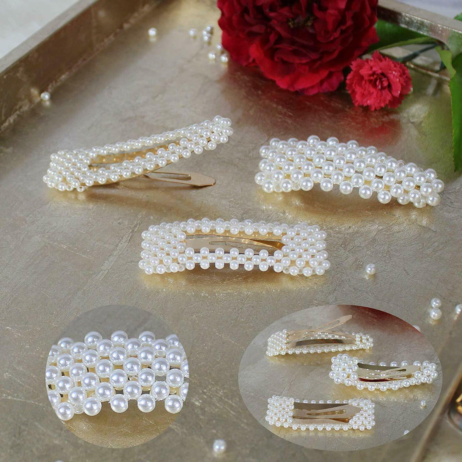 12 Pcs Hair Clips Clip for Woman Geometric Acrylic