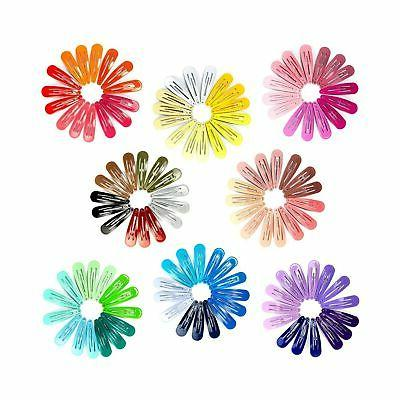120 Pack 2 Snap Clips Barrettes Candy Girls Kids