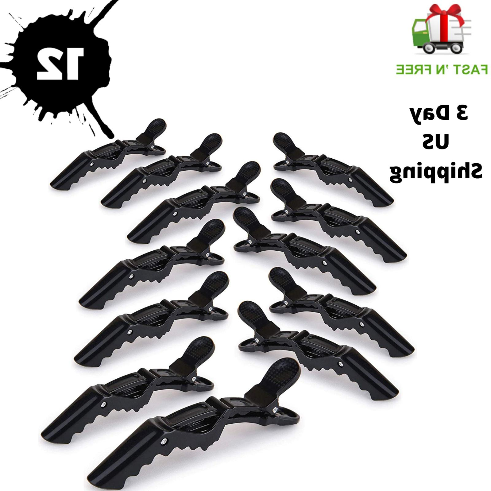 12pcs salon croc hair styling clips sectioning