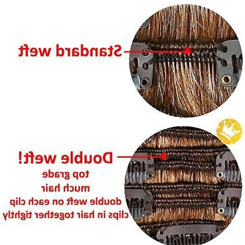 7Pcs 16 Thick Curly Clip in Double Hair