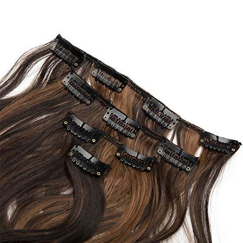 7Pcs 16 Curly Straight Clip in Hair