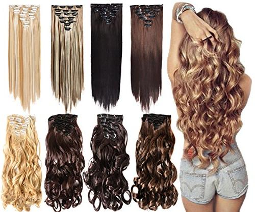 16 clips thick double weft