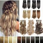 18 Clips In Ins Hair Extensions Straight Wavy Full Head Huma