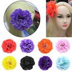 1pcs Big Artificial Peony Flowers Hair Pins Brooch With Allo