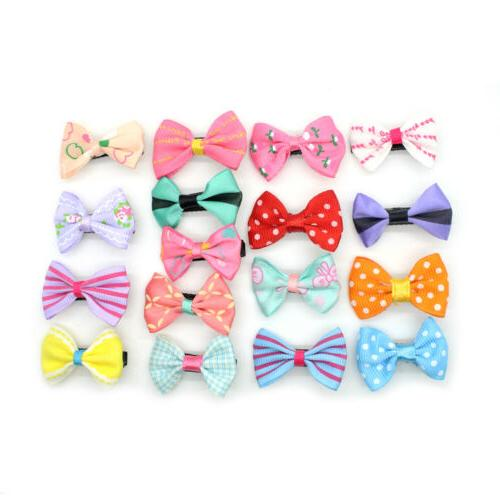 2-20pcs Ribbon Hair Clip Duckbill Kids Girls
