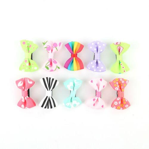 2-20pcs Ribbon Hair Clip Duckbill Baby