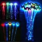 2/5X Lots Glow Hair LED Light Up Fiber Optic Extensions Part