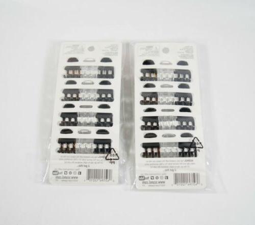 2 Scunci Jaw Clips Value Pack BROWN CLEAR /