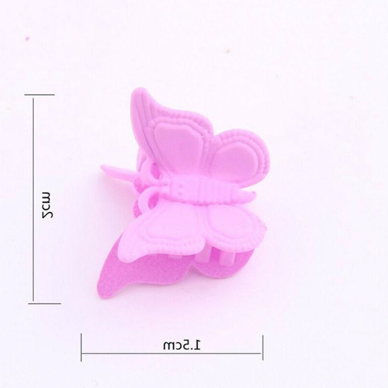 20/50/100X Mini Butterfly Claw Barrettes Jaw Hairpin