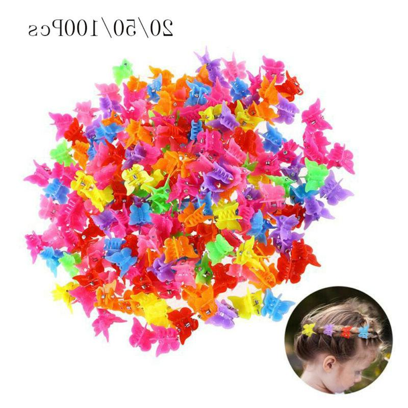 20 50 100x mini mixed color butterfly