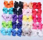 20 Pcs 4 Inches LOT Baby Girls Hair Bows Alligator Hair Clip