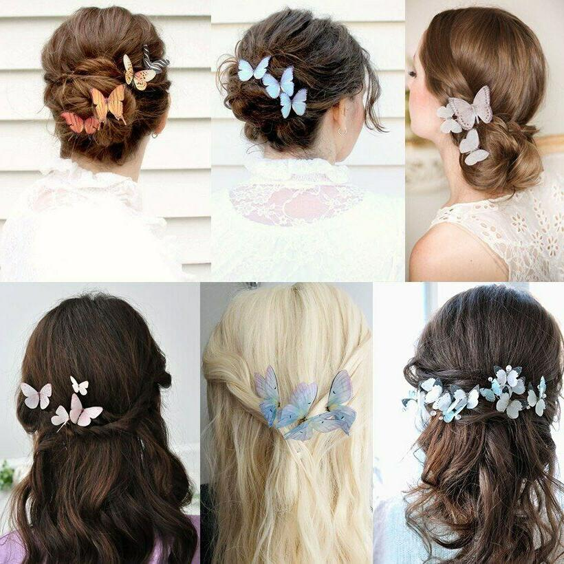2PCS Butterfly Hairpin BB Hair Accessories Barrettes