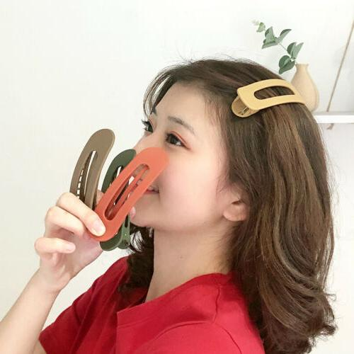 Frosted Hair Clip Large Duckbill Clip Korean Candy Color Hai