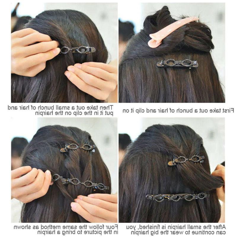 2PCS Hairstyle Hairpin Double Layer Hair Clips