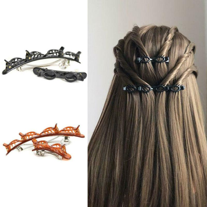 2PCS Double Bangs Hairpin Double Hair Clips Accessories