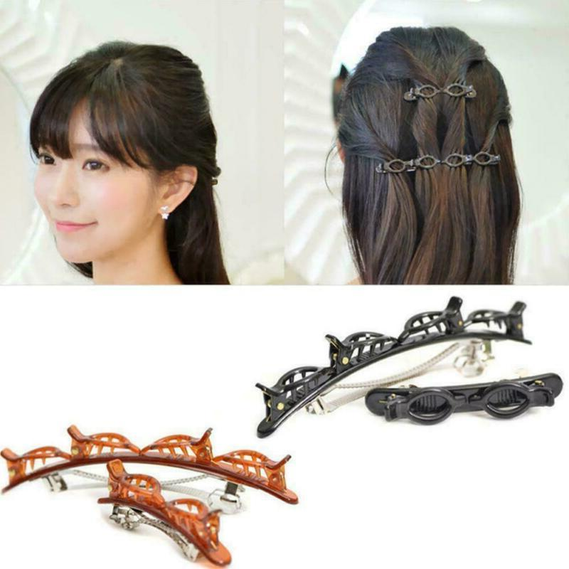 2pcs double bangs hairstyle hairpin double layer