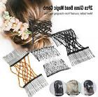 2pcs Double Hair Comb Magic Beads Elasticity Clip Stretchy H