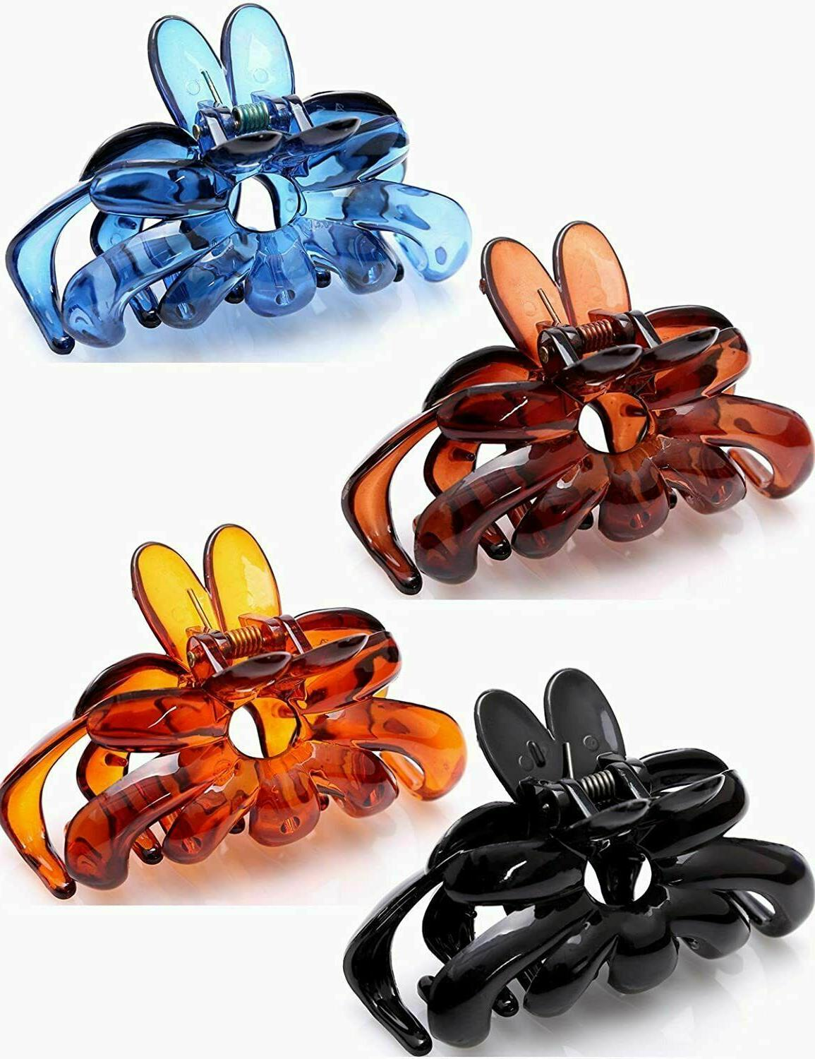 Prettyou Hair Clip for Flower Claws, 3 Pack of
