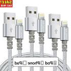 3 Pack 6 Ft Lightning Cable Fits iPhone X 8 7 6 USB Charging