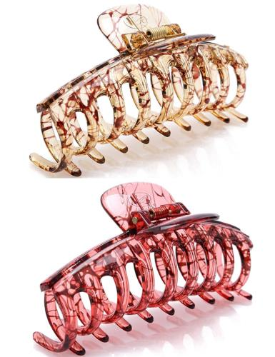 "Prettyou 4.3"" Women Hair Clips Plastic Claw Crystal Banana,"