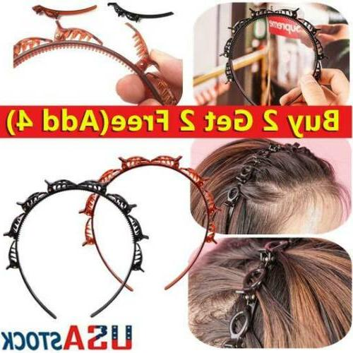 4pc double bangs hairstyle hair clips bangs