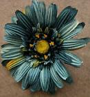 "5"" Teal Gerbera Daisy Silk Flower Hair Clip,Rockabilly,Dance"
