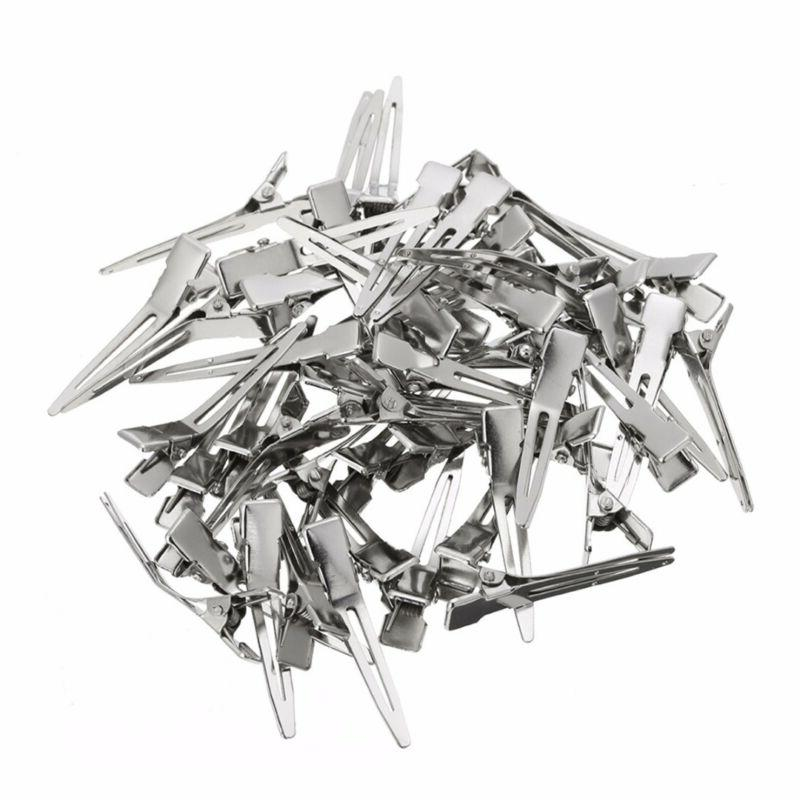 50pcs Flat Prong Alligator Hair Clips Barrette For DIY Hairpin