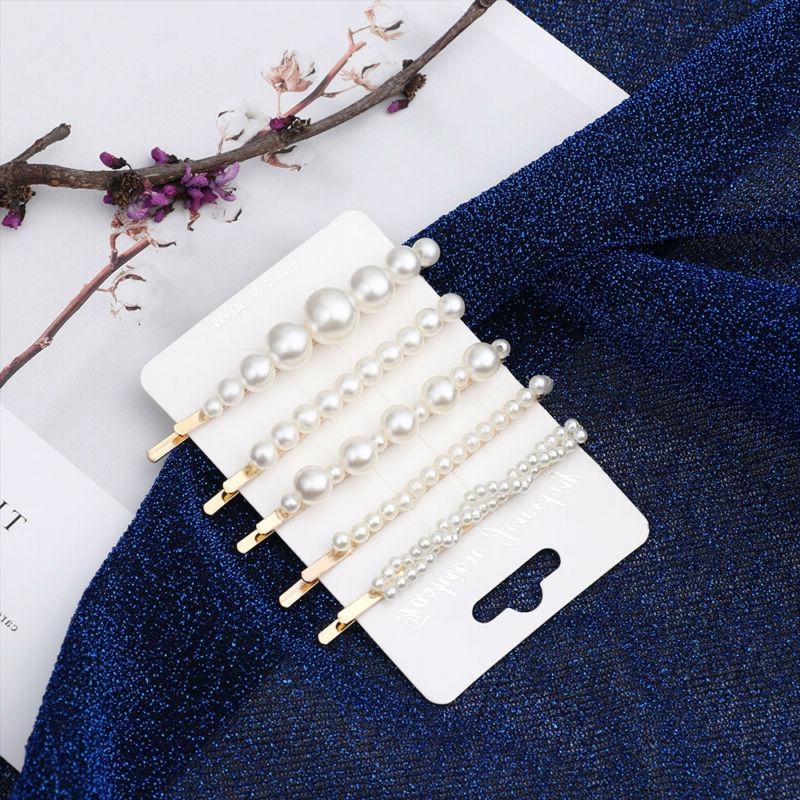 5pcs/6pcs Girl Elegant Pearl Hair