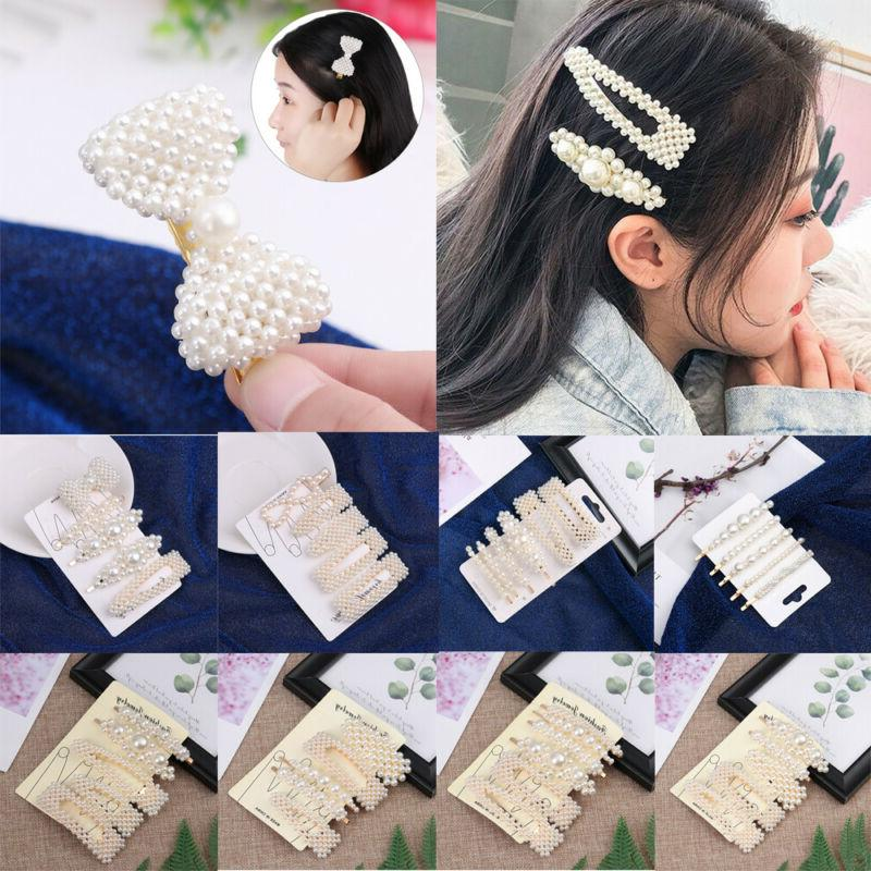 5pcs/6pcs Women Fashion Elegant Barrettes Hair Accessories