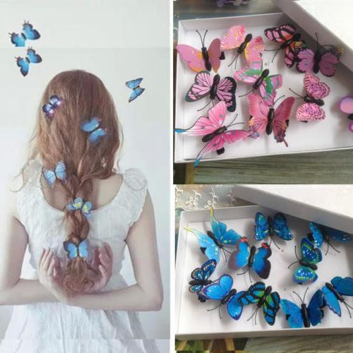 5Pcs Butterfly Flower Hair Claw Clamp Clips Wedding Party Bridal Pins