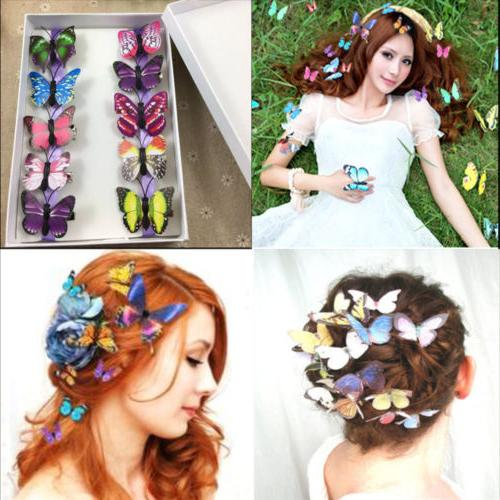 5Pcs Butterfly Claw Clamp Hair Clips Wedding Party Pins