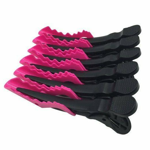 6pcs Salon Hair Styling Clips-Sectioning Plastic Hair