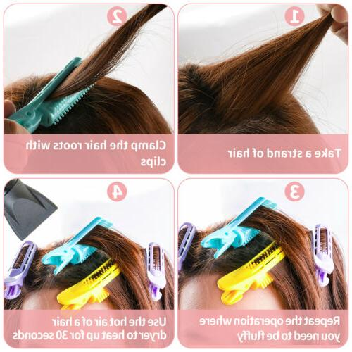 6PCS Volumizing Hair Tools Root Clips Curler Wave Clips Styling