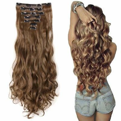 "7Pcs 16 Clips 23""-24"" Thick Curly Head Clip Double Weft"