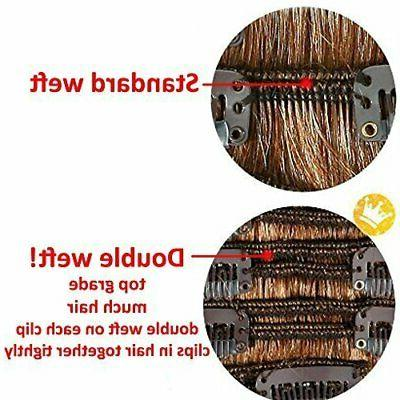 7Pcs 16 Head Clip in on Double Weft
