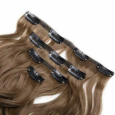 7Pcs Thick Full Head Double Weft Hair